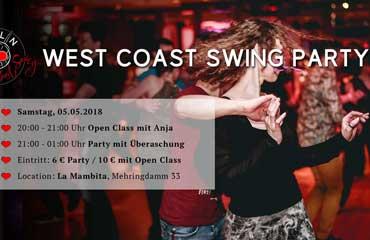 West Coast Swing Party Berlin Mai 2018