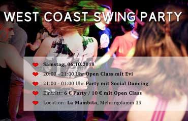 West Coast Swing Party Berlin Oktober 2018