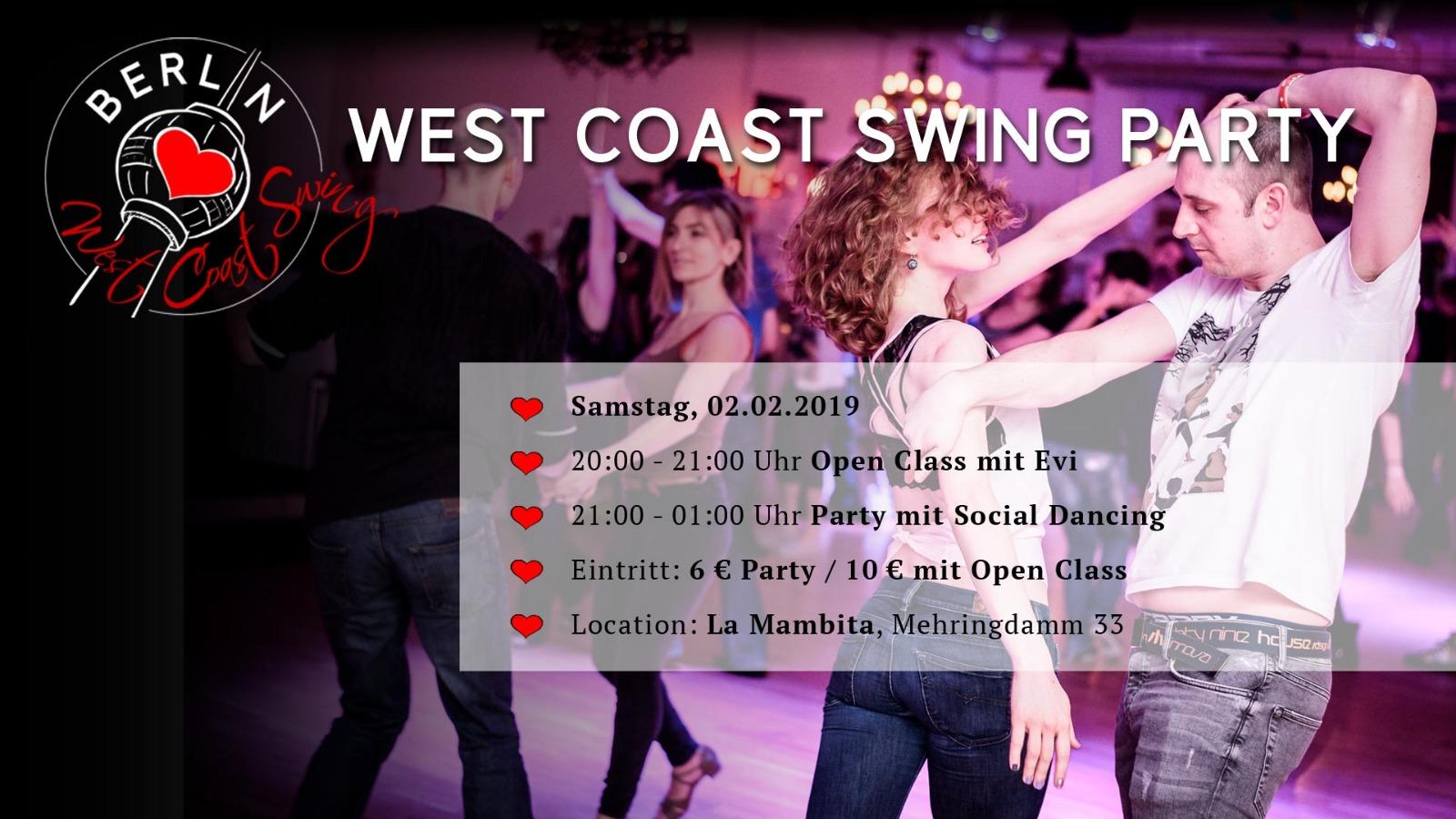 West Coast Swing Party Berlin Dezember 2018