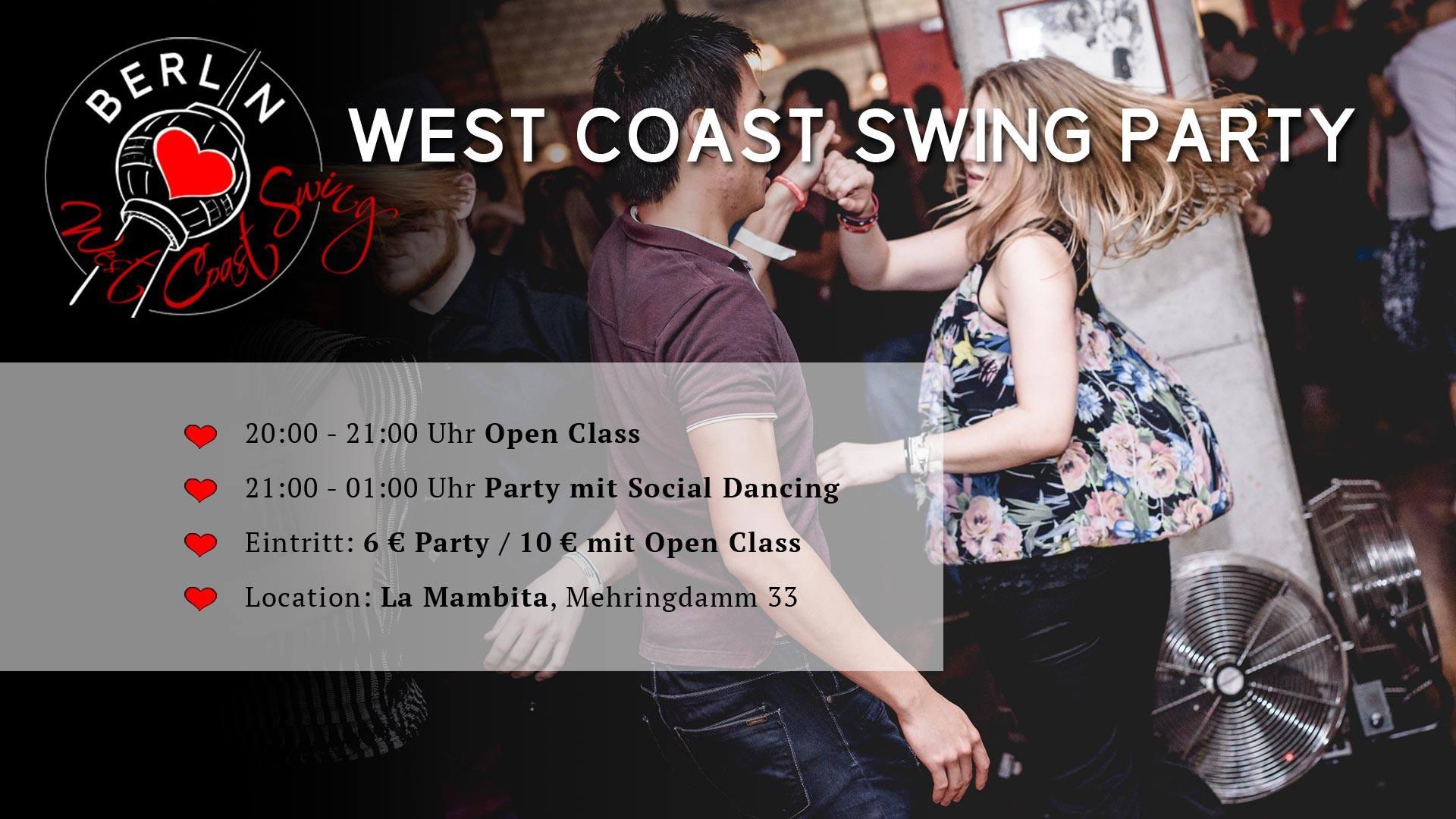 West Coast Swing Party Berlin Juli 2019
